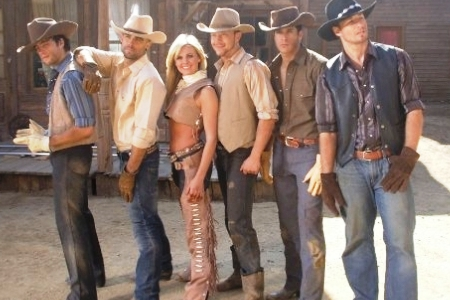 Laura Bell Bundy in the Giddy on Up video