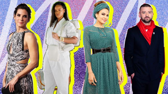 Collage with Sandra Bullock, Rihanna, Eva