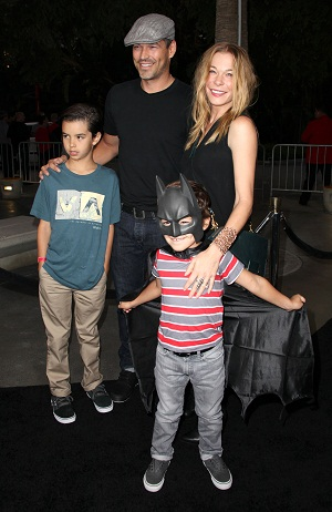 LeAnne Rimes with husband and step-sons