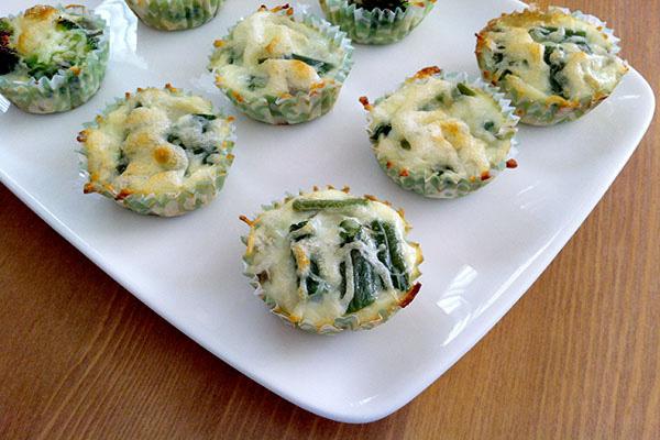 Leftover mini green bean casserole frittatas recipe