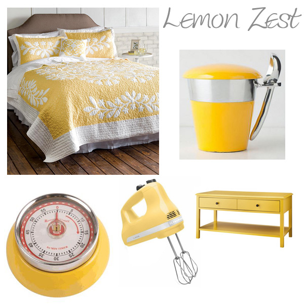 Items around the home featured in yellow