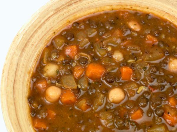 Lentil chickpea soup