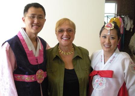 Lidia Bastianich at Korean wedding