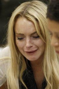 Lindsay Lohan reacts to jail time