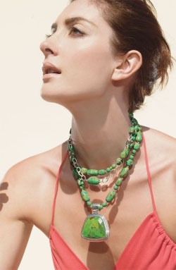 Barse lime turquoise necklace