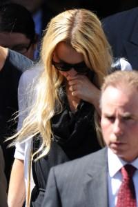 Lindsay Lohan leaves the courthouse