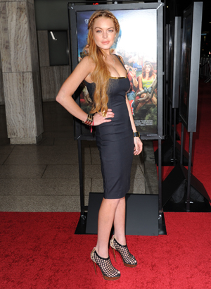 Lindsay Lohan at Scary Movie premiere