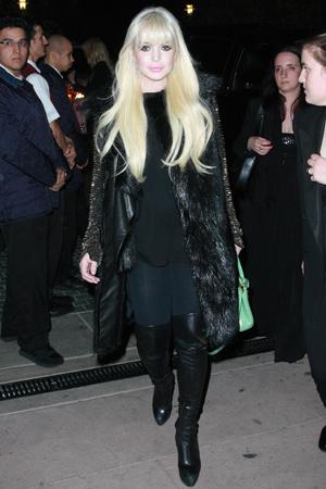 Lindsay Lohan and Whoopi Goldberg for Glee