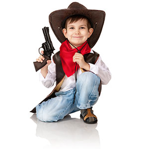 Little boy pretending to be a cowboy | Sheknows.com.au
