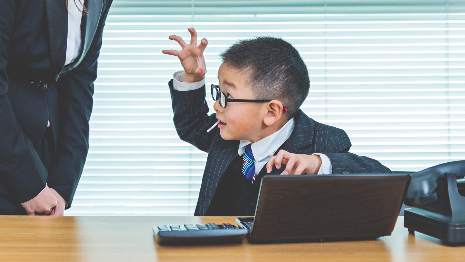 little boy computer