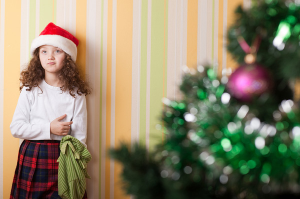 Little girl with no Christmas gifts
