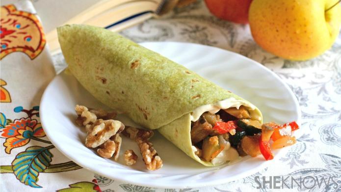 Meatless Monday: Warm ratatouille wraps with