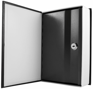 locking book safe with key