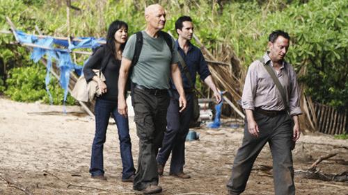 John Locke and Ben Linus take a walk on Lost