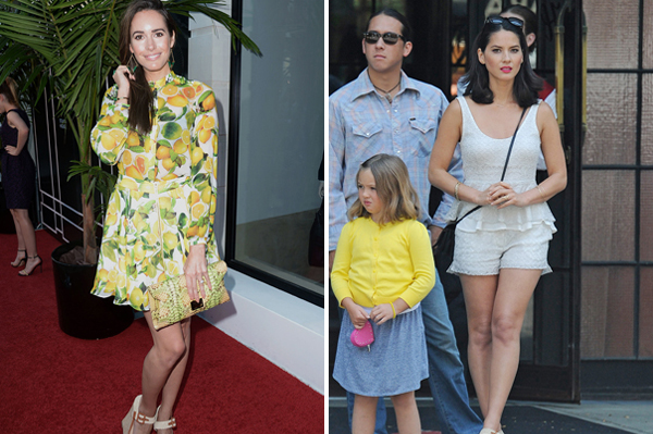Louise Roe and Olivia Munn in ShoeDazzle