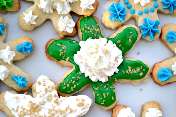 Low fat snowflake cookie