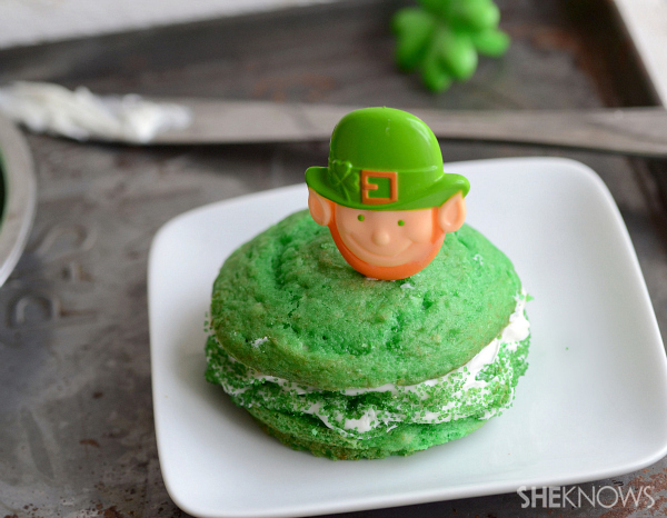Low-fat St. Patrick's Day whoopie pies