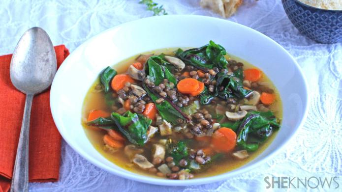 Meatless Monday: Chunky vegetable soup with