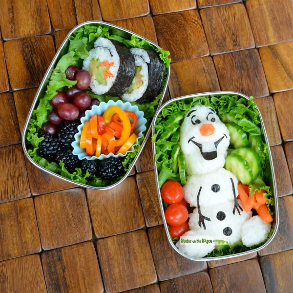 Frozen Olaf inspired school lunch for kids - Bento Box