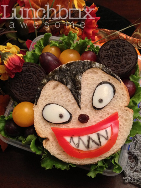 Halloween vampire bento box school lunch for kids