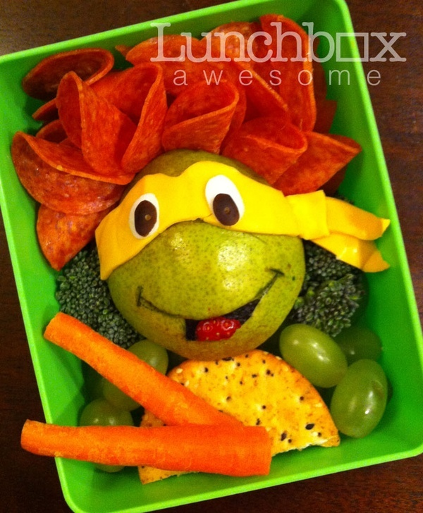 Ninja Turtle bento box - kids lunch