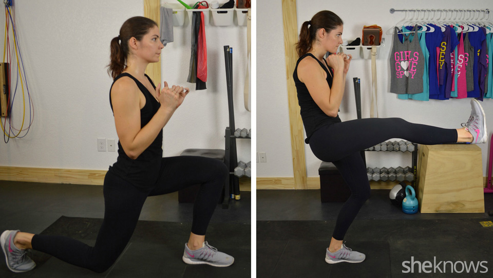 Lunge to front kick