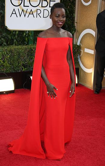 Lupita Nyong'o at the 2014 Golden Globes