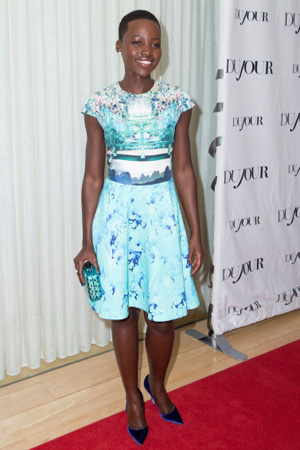 Lupita Nyong'o wearing Mary Matrantzou dress