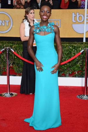 Lupita Nyong'o wearing Gucci at the SAG Awards