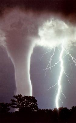 What causes tornadoes?