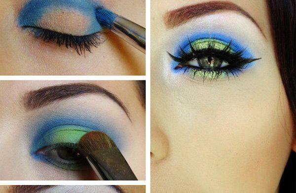 Seattle Seahawks eye makeup tutorial