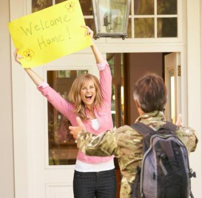 Military homecomings: It's not always like
