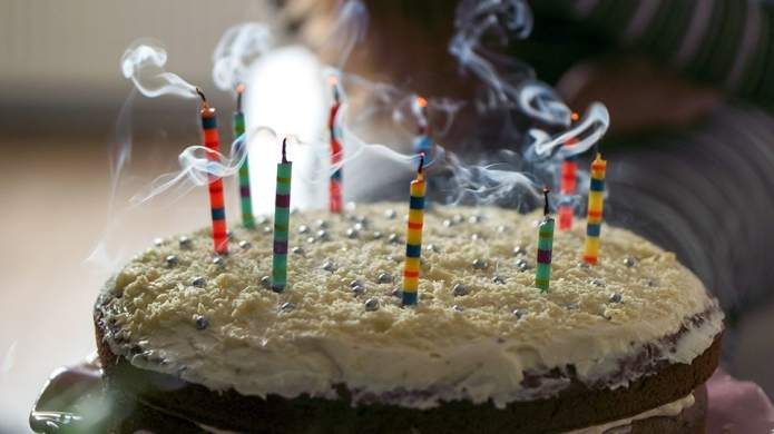 Blowing Out Candles on a Birthday