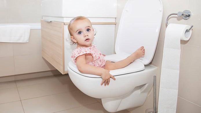 Little Child in Toilet