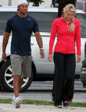 Tiger Woods and Lindsey Vonn take