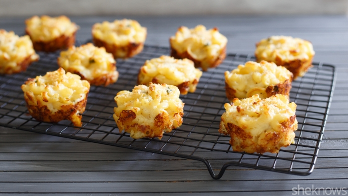 Jalapeño mac and cheese muffins are