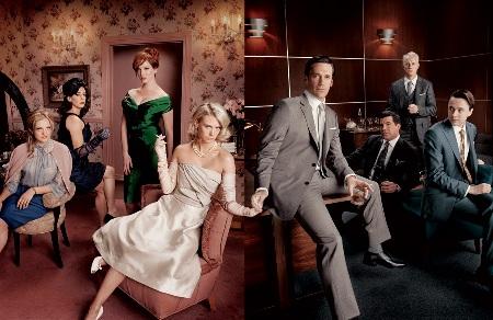 The cast of Mad Men, season four