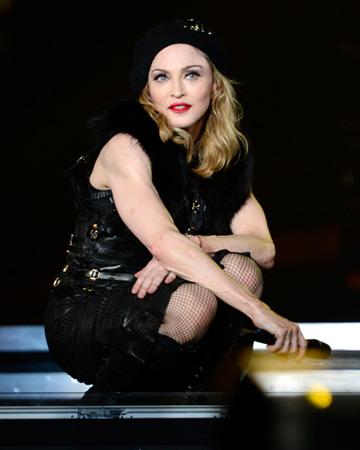 Madonna wearing Aqua Rouge