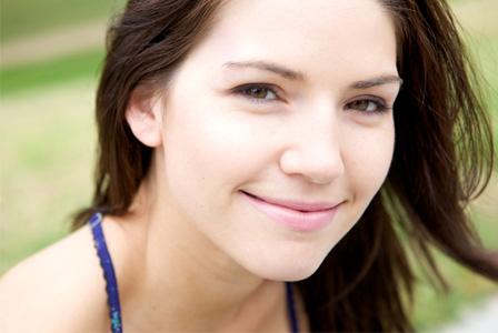 Makeup free woman