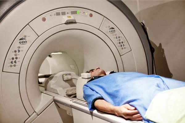 Man having CAT scan