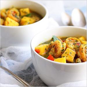 Mango and shrimp curry recipe