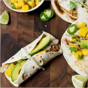 Mango and chicken tacos recipe