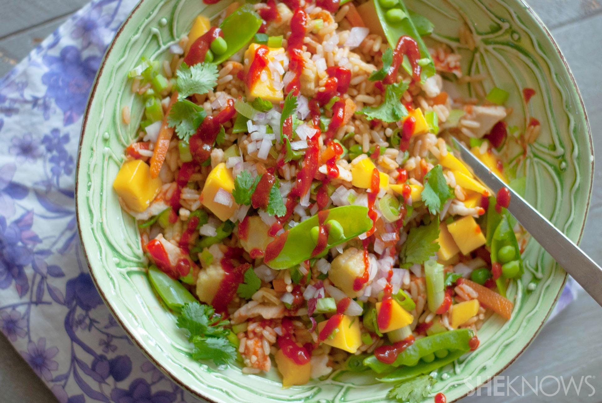 Sweet and spicy mango siracha fried recipe°