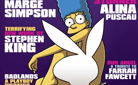 Marge Simpson does Playboy
