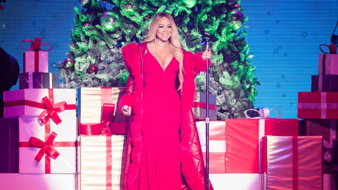 Mariah Carey performs in Nottingham, England