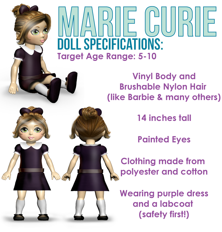 Miss Possible Marie Curie doll | Sheknows.com