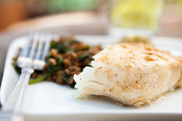 Marinated halibut