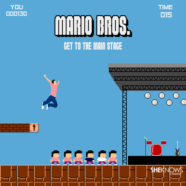Mario Bros.: Get to the Main Stage by SheKnows