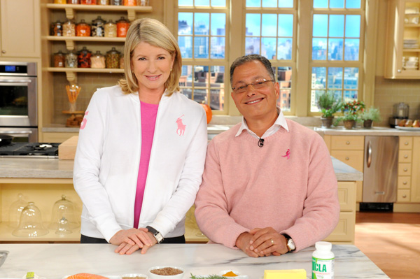 """Martha Stewart and Dr. Mitchell Gaynor are seen in this photo from the production of """"The Martha Stewart Show"""" in New York on Tuesday, October 18, 2011."""