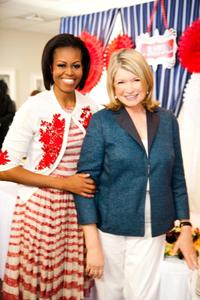 Michelle Obama Martha Stewart